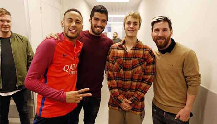 Justin Bieber datang ke latihan Barcelona