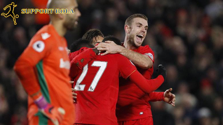 Sempat Tertinggal Lebih Dulu, Liverpool Taklukkan Stoke 4-1