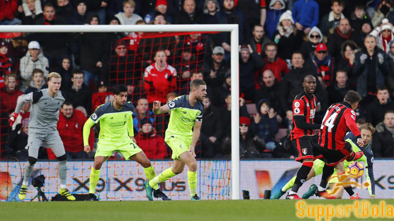 Berhasil Unggul Lebih Dulu, Liverpool Dihajar Bournemouth 3-4