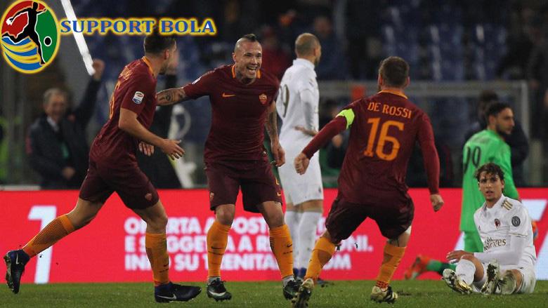 Berkat Gol Radja Nainggolan, Roma Berhasil Taklukkan Milan 1-0