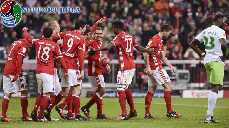 Lumat Wolfsburg 5-0, Bayern Munchen Naik Ke Puncak Klasemen