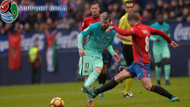Messi Cetak Dua Gol, Barca Kalahkan Osasuna 3-0 Tanpa Balas