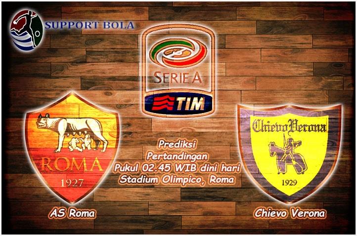 Prediksi AS Roma vs Chiveo Verona 23 Desember 2016 (Serie A)