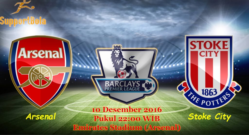 Prediksi Arsenal vs Stoke City (Liga Inggris) 10 Desember 2016