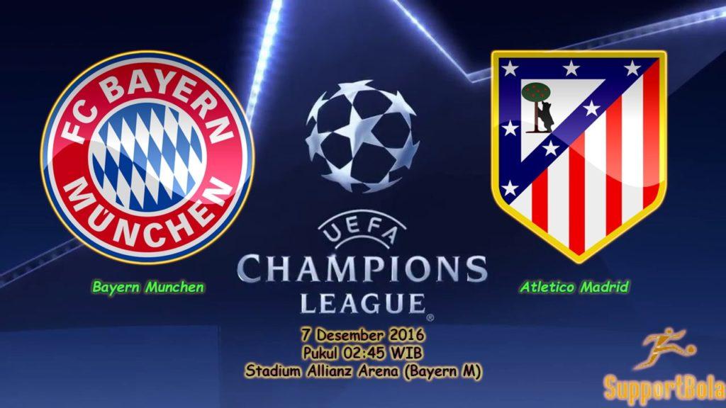 Prediksi Bayern Munchen vs Atletico Madrid (Liga Champions) 7 Desember 2016