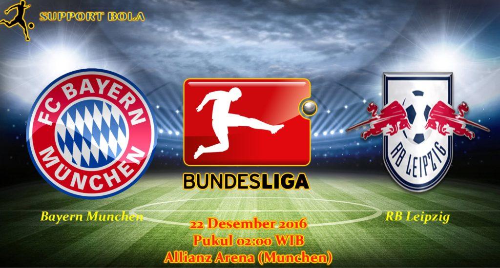 Prediksi Bayern Munchen vs RB Leipzig (Bundesliga) 22 Desember 2016