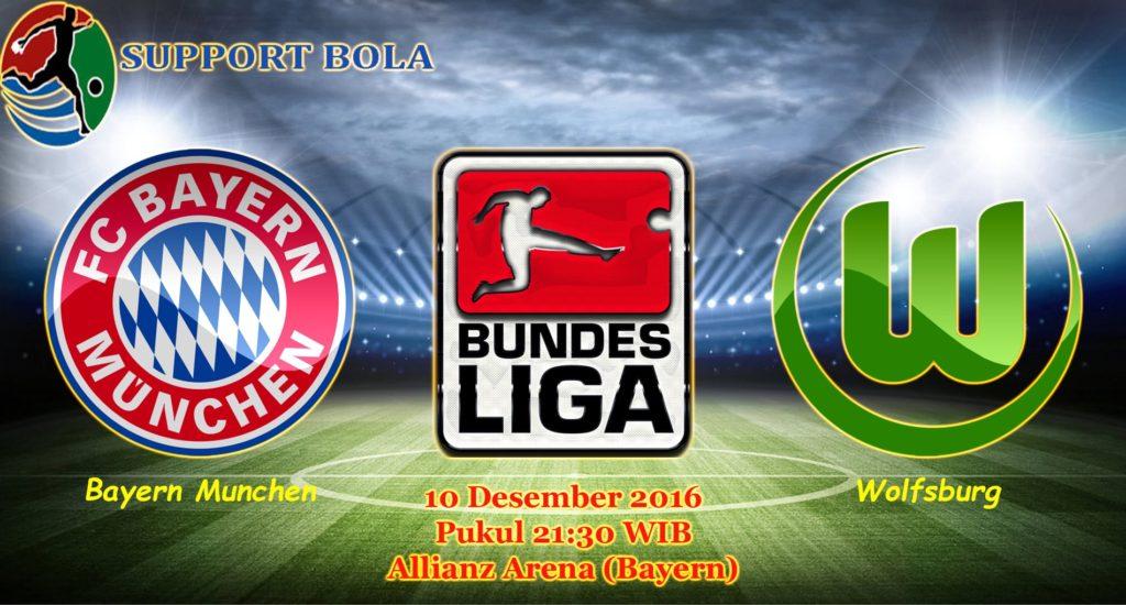 Prediksi Bayern Munchen vs Wolfsburg (Bundesliga) 10 Desember 2016