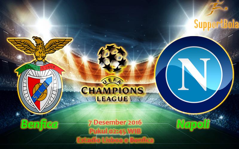 Prediksi Benfica vs Napoli (Liga Champions) 7 Desember 2016