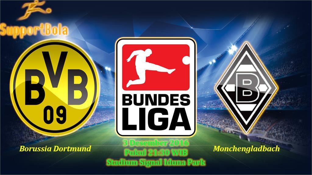 Prediksi Borussia Dortmund vs Moenchengladbach (Bundesliga) 3 Desember 2016