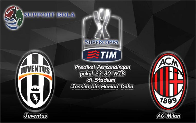 Prediksi Juventus vs AC Milan 23 Desember 2016 (Italia Super Cup)