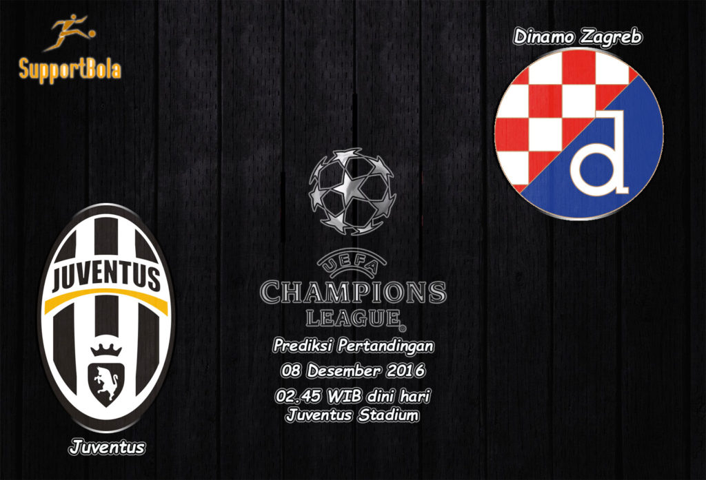 Prediksi Juventus vs Dinamo Zagreb 8 Desember 2016 (Liga Champion)