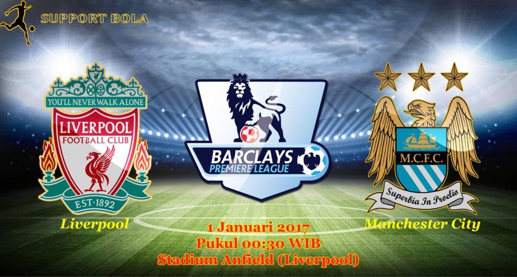Prediksi Liverpool vs Manchester City (Liga Inggris) 1 Januari 2017