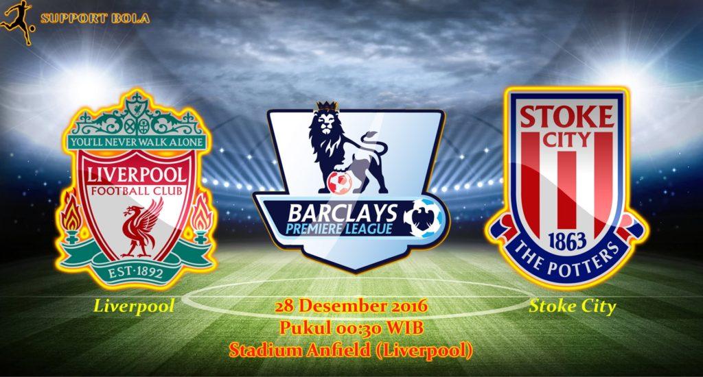 Prediksi Liverpool vs Stoke City (Liga Inggris) 28 Desember 2016