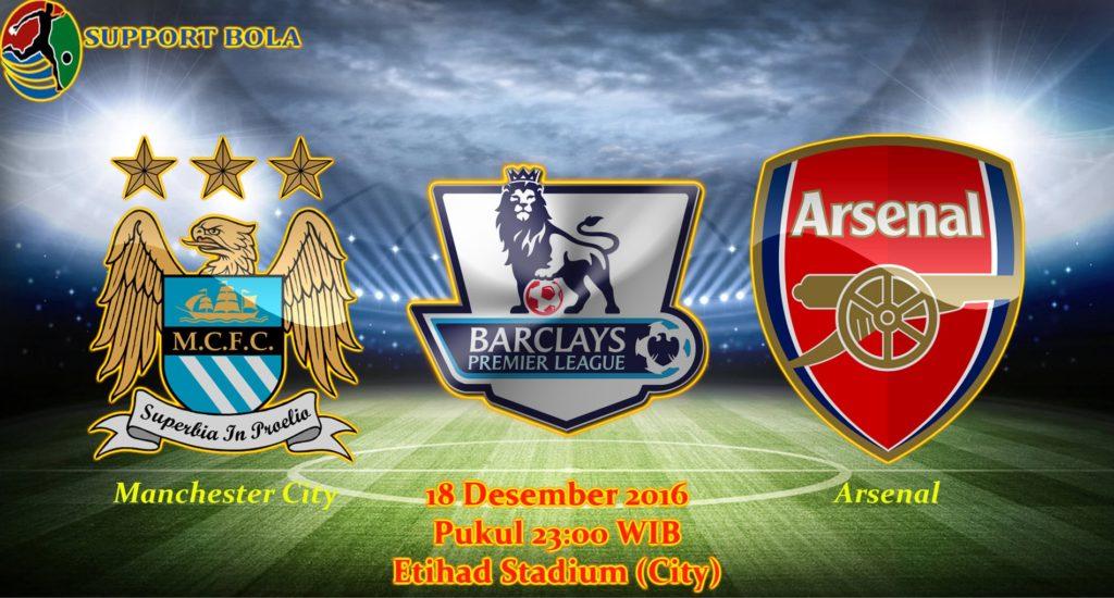 Prediksi Manchester City vs Arsenal (Liga Inggris) 18 Desember 2016