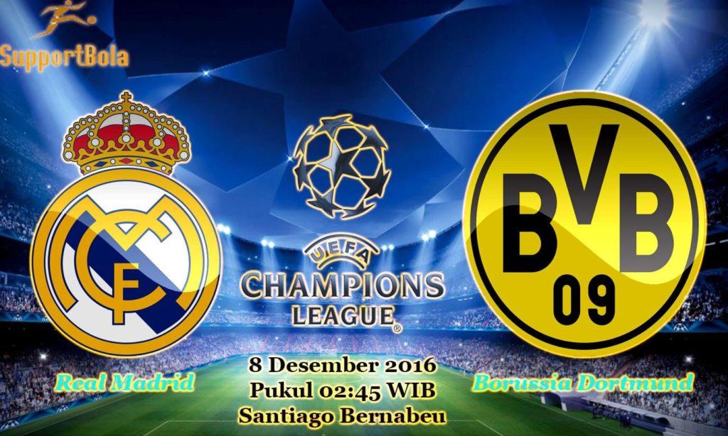 Prediksi Real Madrid vs Borussia Dortmund (Liga Champions) 8 Desember 2016
