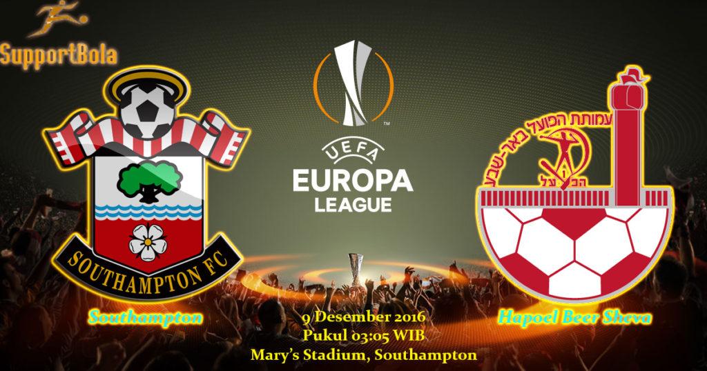 Prediksi Southampton vs Hapoel Beer Sheva (Liga Eropa) 9 Desember 2016