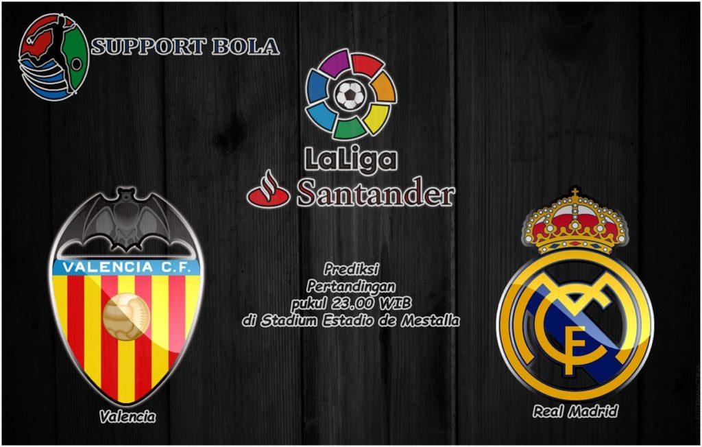 Prediksi Valencia vs Real Madrid 19 Desember 2016 (La Liga Santander)