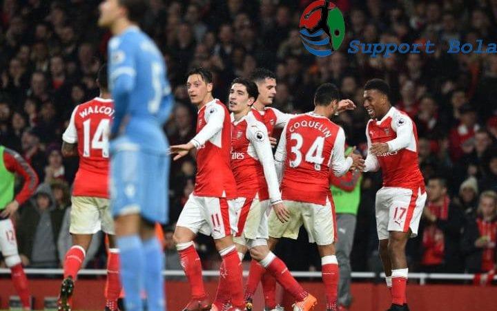 Stoke Beringas, Arsenal Percaya Diri Tutup Babak Pertama Skor 1-1