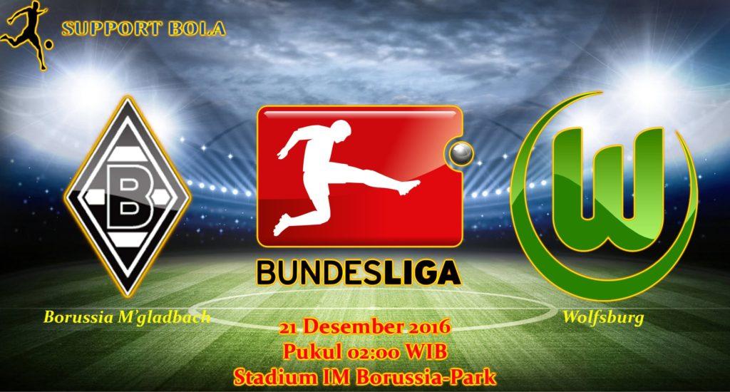 Prediksi Borussia M'gladbach vs Wolfsburg (Bundesliga) 21 Desember 2016