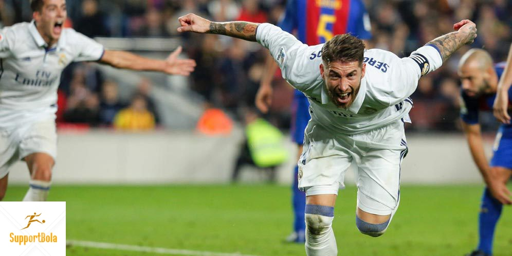 Skor Akhir Pertandingan Barcelona 1-1 Real Madrid