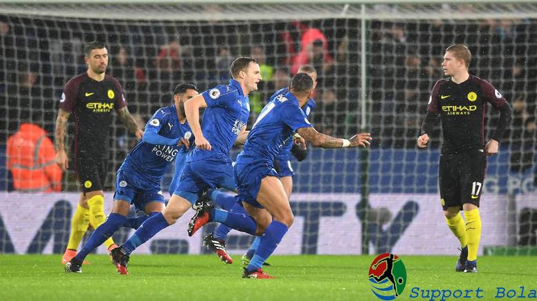 Babak Pertama Leicester City VS Manchester City, Skor 3-0
