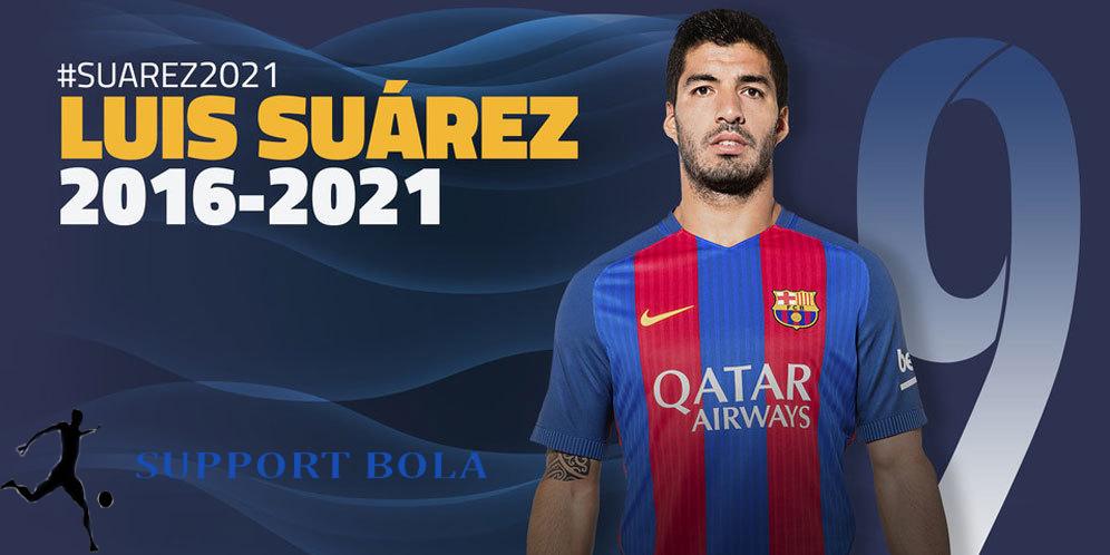 Suarez Resmi Perpanjang Kontrak Hingga 2021 Di Barcelona