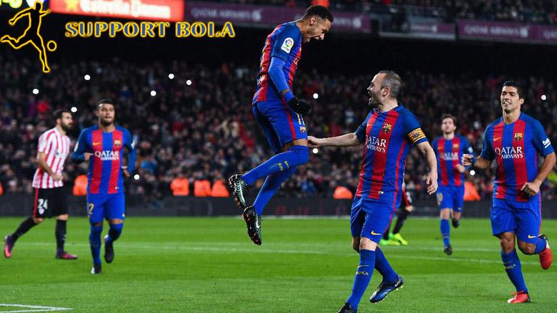 Gol MSN Loloskan Barcelona ke Perempatfinal Copa Del Rey