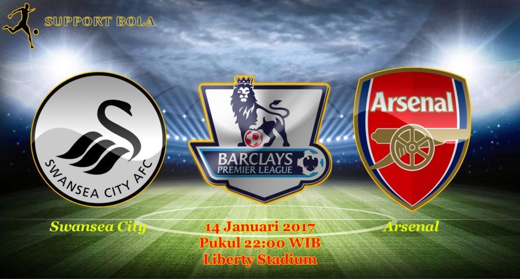 Prediksi Swansea City vs Arsenal (Liga Inggris) 14 Januari 2017