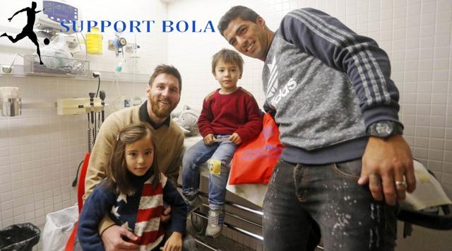 Anak Asuh Luis Enrique Kunjungi 7 Rumah Sakit Untuk Beri Motivasi