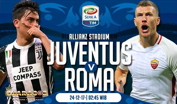 Prediksi Juventus vs AS Roma 24 Desember 2017