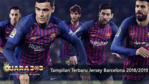 barcelona resmi rilis seragam terbarunya untuk musim depan - agen bola piala dunia 2018