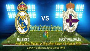 Prediksi Real Madrid vs Deportivo Alaves 4 Februari 2019