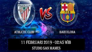 Prediksi Athletic Bilbao vs Barcelona 11 Februari 2019